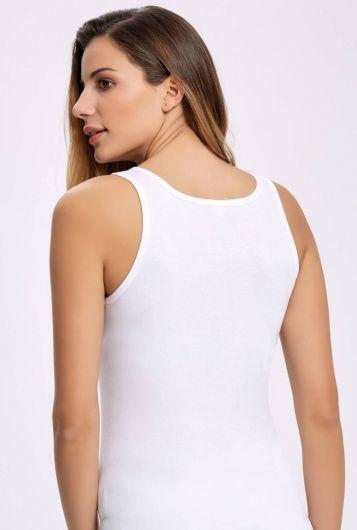 İLKE İÇ GİYİM - Principle 2206 Wide Strap White Female Athlete3Pieces (1)