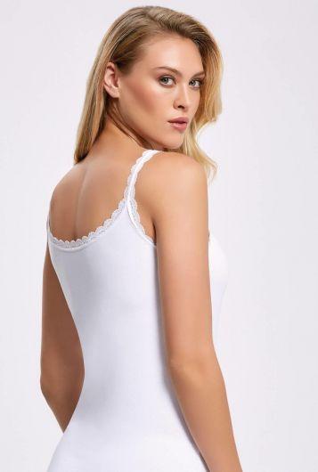 İLKE İÇ GİYİM - Principle Female White Athlete With Lycra Lace Straps (1)