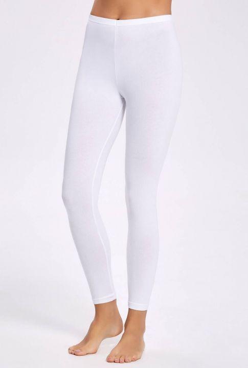 İlke 2250 Lycra Long White Women's Leggings3Pieces
