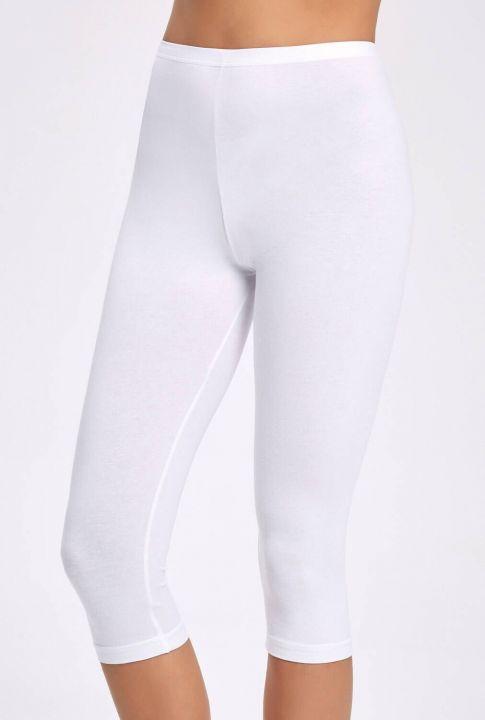 İlke 2257 Lycra Capri Women's White Leggings10Pieces