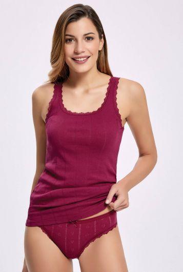 Принцип 2295 жаккарда (Передача Ribana) Широкий ремень Женщины белье Установить3шт - Thumbnail