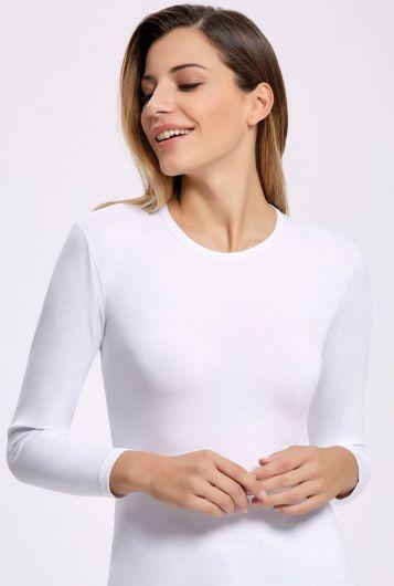 İlke 2310 Белая лайкра для женщин с длинным рукавом Badi5 шт. - Thumbnail