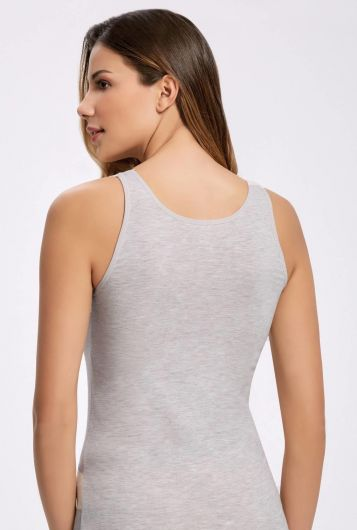 İLKE İÇ GİYİM - Principle Melange Lace Wide-Strap Athlete (1)