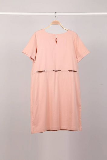 MARKAPIA WOMAN - Powder Belt Short Sleeve Women Dress (1)