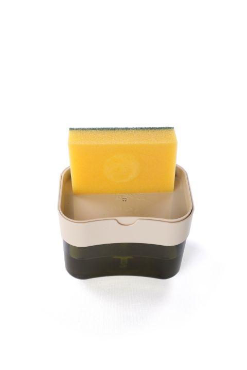 Дозатор жидкого мыла с перекачкой и резервуаром для губок