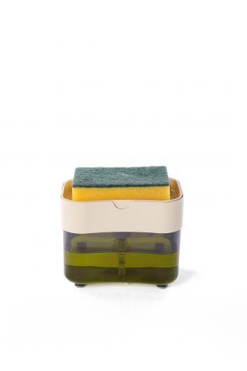 Дозатор жидкого мыла с перекачкой и резервуаром для губок - Thumbnail