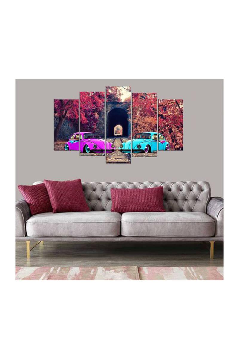 Фиолетовый Синий Vosvos Car5 штук Mdf Живопись