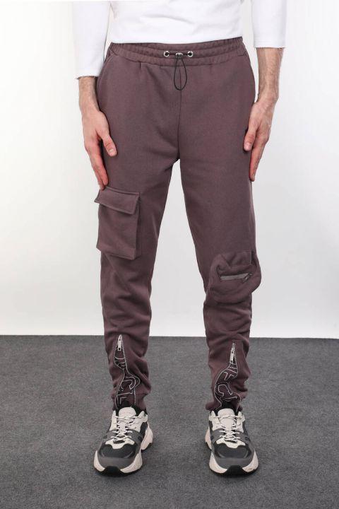 Мужские брюки с застежкой-молнией и карманом