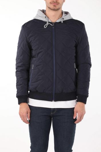 Hooded Quilted Coat - Thumbnail