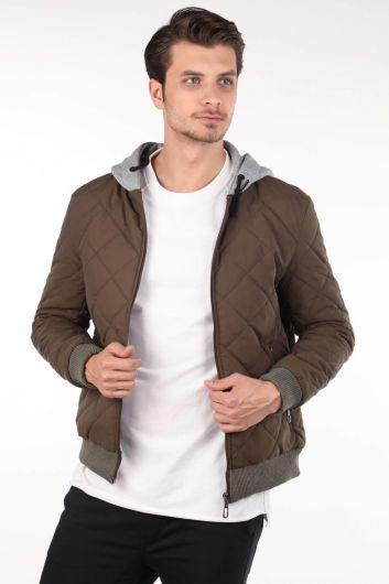 Стеганое пальто с капюшоном - Thumbnail