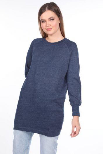 Raglan Sleeve Long Sweatshirt - Thumbnail