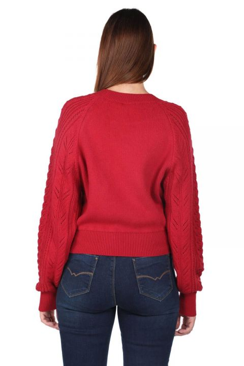 Raglan Sleeve Thick Crew Neck Knitwear Sweater
