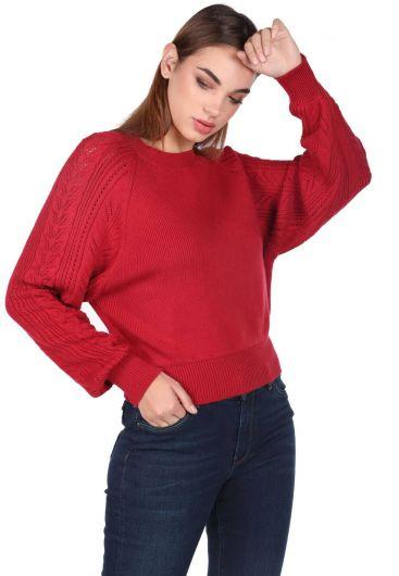 MARKAPIA WOMAN - Плотный вязаный свитер с рукавами реглан и круглым вырезом (1)