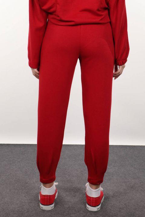 Женские красные брюки с пинцетом
