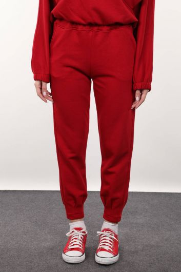 Women's Red Trousers With Tweezers - Thumbnail