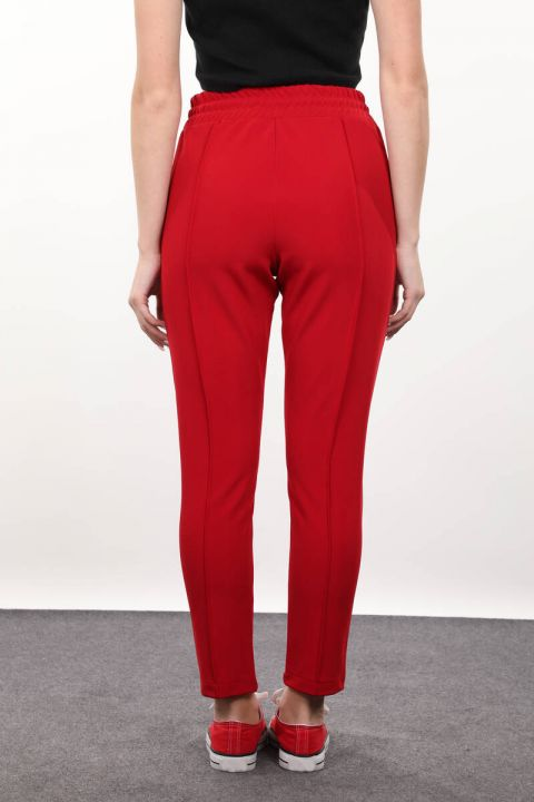 Red Waist Tied Trousers