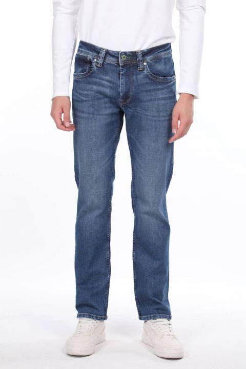 Свободные мужские джинсовые брюки