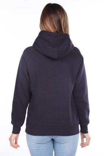 MARKAPIA WOMAN - Roma Italy Applique Fleece Hooded Sweatshirt (1)