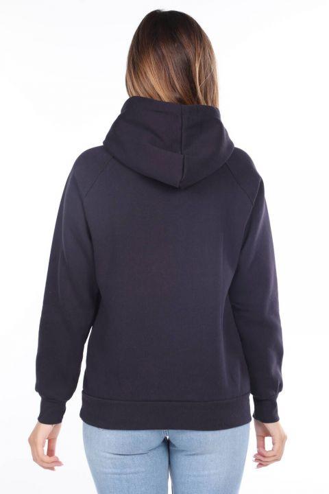 Roma Italy Applique Fleece Hooded Sweatshirt
