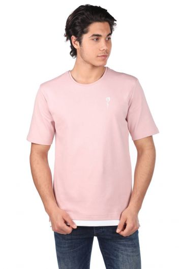ROSE LONDON - Rose Embroidered Men's Crew Neck T-Shirt (1)