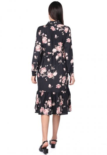 MARKAPIA WOMAN - Rose Patterned Gathered Dress (1)