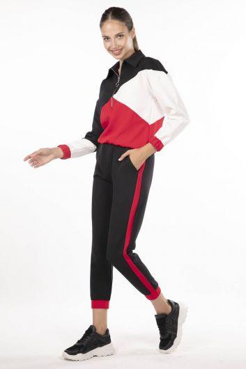 MARKAPIA WOMAN - Elastic Geometric Piece Track Suit (1)