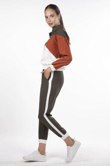 MARKAPIA WOMAN - Женский эластичный спортивный костюм с геометрическим рисунком (1)