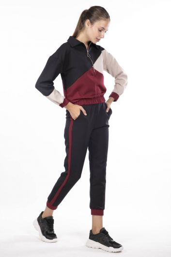 MARKAPIA WOMAN - Elastic Women's Geometric Tracksuit Piece Set (1)