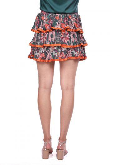 Многослойная плиссированная юбка с оборками - Thumbnail