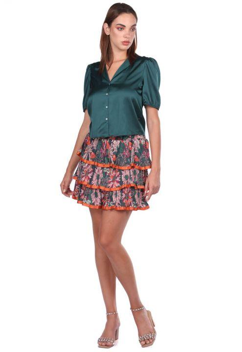 Многослойная плиссированная юбка с оборками