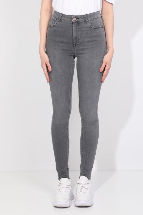 Джинсовые брюки Skınny с отделкой блестящими камнями