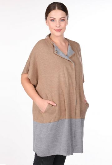 MARKAPIA WOMAN - Short Bat Sleeve Women Knitwear Cardigan (1)