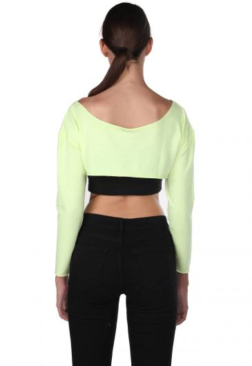 Markapia Shoulder Detail Crop Blouse - Thumbnail