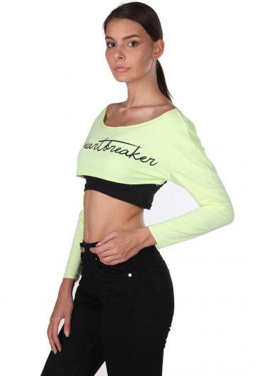MARKAPIA WOMAN - Укороченная блуза Markapia с отделкой на плечах (1)