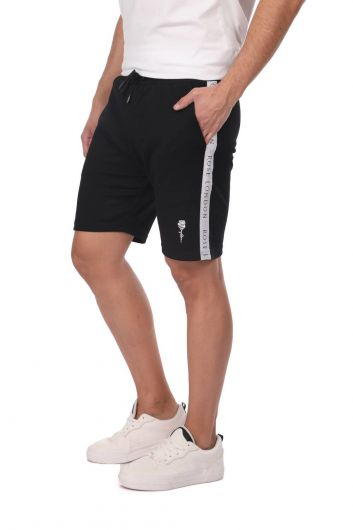 ROSE LONDON - Side Stripe Men's Black Shorts (1)