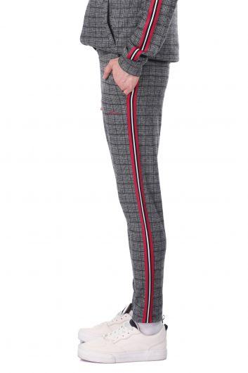 MARKAPIA MAN - Мужские спортивные штаны в клетку с боковыми полосками (1)