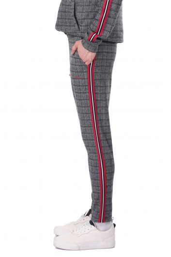 MARKAPIA MAN - Side Stripe Plaid Men's Sweatpants (1)