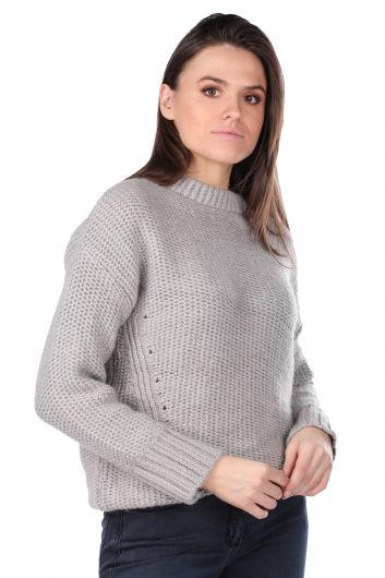 MARKAPIA WOMAN - Silvery Knitwear Women Sweater (1)