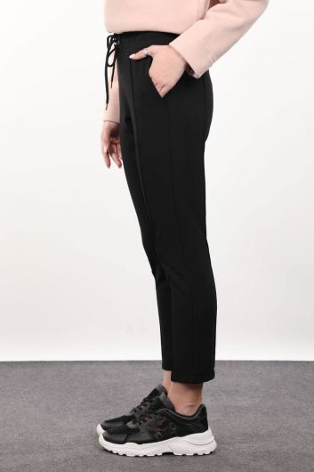 MARKAPIA WOMAN - Black Strap Woman Trousers (1)