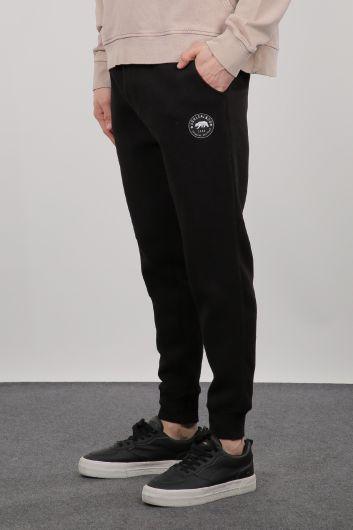 MARKAPIA MAN - بدلة رياضية سوداء من Sweatpants للرجال (1)