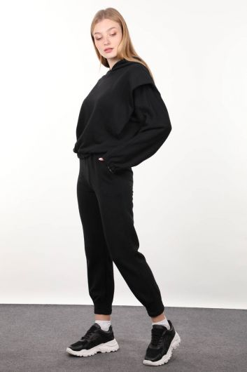MARKAPIA WOMAN - Black Wadded Hooded Tracksuit Set (1)