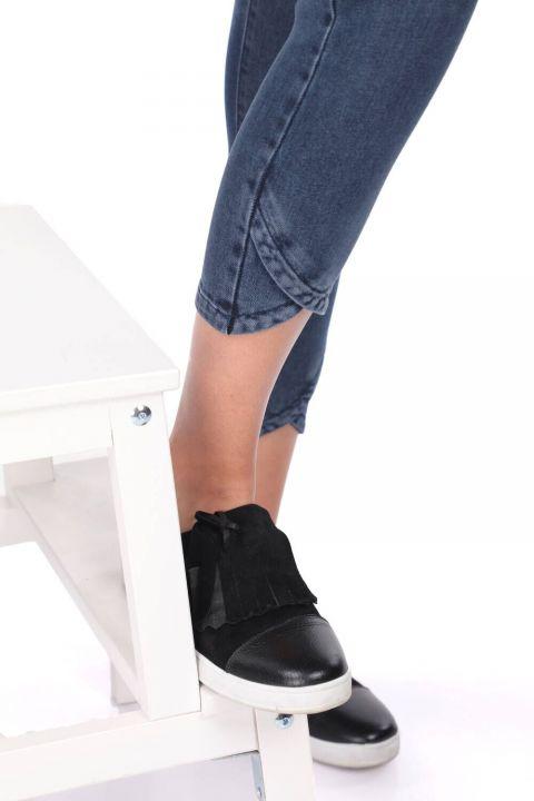 Skinny Paça Detaylı Kadın Jean Pantolon