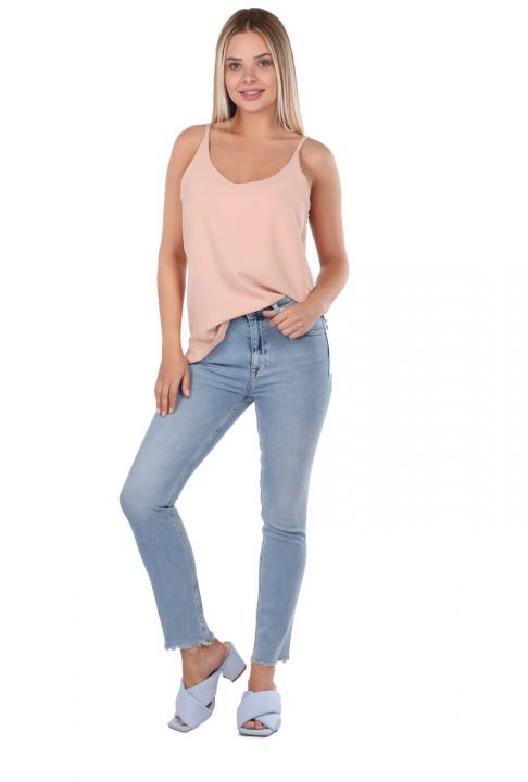 Skinny Kadın Açık Jean Pantolon