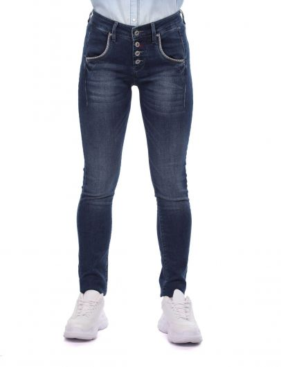 Skinny Kadın Jean Pantolon - Thumbnail