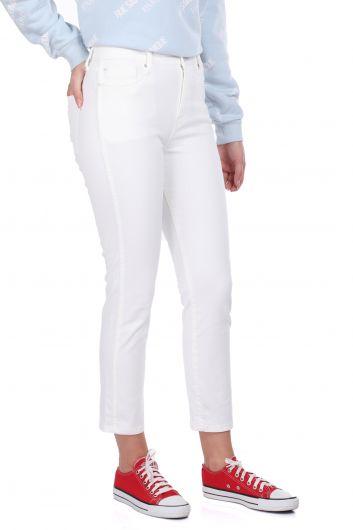 MARKAPIA WOMAN - بنطلون جينز أبيض بقصة ضيقة (1)