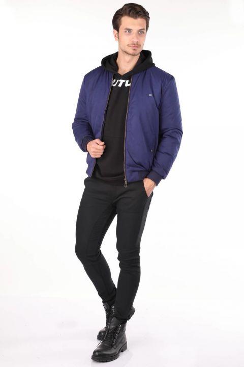 Прямая мужская приталенная куртка
