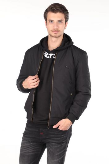 Прямая мужская приталенная куртка - Thumbnail