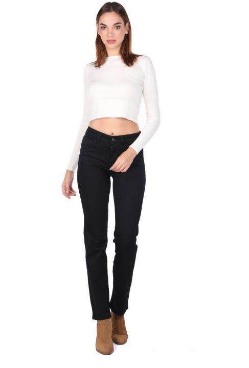 Slim Fit Crop Crew Neck Knitwear Women Sweater