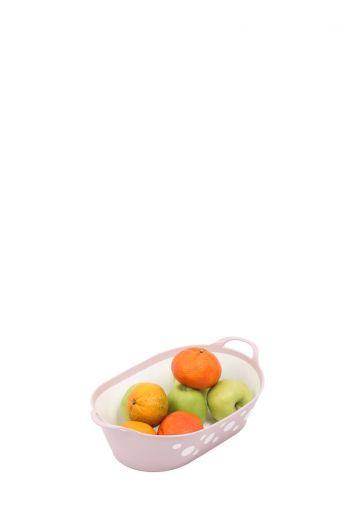 Овальная корзина для хлеба и фруктов с пятнами - Thumbnail