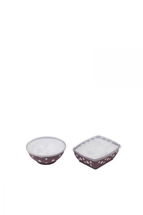 طقم غطاء وعاء دائري ومربع على شكل نجمة